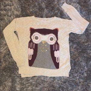 Justice Owl Sweater size 14